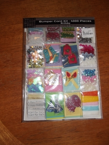 Who doesn't want a random card making kit? How about someone who has had a cupboard full of them for at least 5 years. Watch this space, because I might just use them.